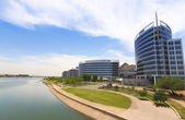 A Hayden Ferry Lakeside Panorama View, Tempe — Stock Photo