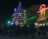 An Historic Downtown Flagstaff, Arizona, New Year's Eve — Stock Photo
