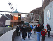 A Shot of Tourists Visiting Hoover Dam — Stock Photo