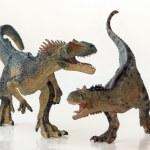 A Battle Between a Carnotaurus and an Allosaurus — Stock Photo #39328739