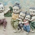 Native molding art on wall — Stock Photo