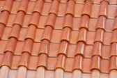 Red color roof tile — Stock Photo