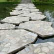 Stone walkway on water in the park — Stock Photo
