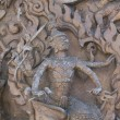 An ancient mural wood carving from Thailand. — Stock Photo