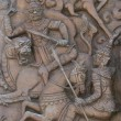 An ancient mural wood carving from Thailand. — Stock Photo #31633853