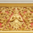 The gold stucco design of native thai style on the Wall — Стоковая фотография