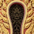 The gold stucco design of native thai style on the Wall — Lizenzfreies Foto