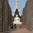 Beautiful white buddha in Thailand. — Foto de Stock