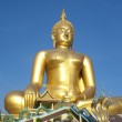 Big Golden Buddha statue in Thailand temple — Stock Photo #32023195