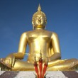 Big Golden Buddha statue in Thailand temple — Stock Photo #32023347