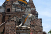 The Buddha status of wat yaichaimongkon at ayuttaya province,Thailand — Stock Photo