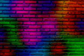 Abstract colorful brick wall — Stock Photo
