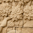 Stock Photo: Native molding art on wall in thai style