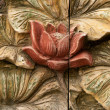 Flower carving decorated — Stock Photo