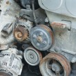 Stock Photo: Scrap metal from car engine