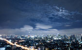 City town at night in Bangkok, Thailand — Stockfoto