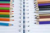 Color Pencils on Isolated White Background — Stock Photo