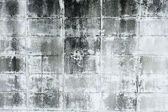 Aged, super-grunge concrete wall in dark, cold color tones — Stock Photo