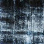 Постер, плакат: Aged super grunge concrete wall in dark cold color tones