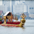 BANGKOK,THAILAND-NO VEMBER,2:The Royal Barge Procession Exercises on the occasion for Royal Kathin ceremony which will take place at Wat Arun Ratchavararam,Novem ber 2,2012 in Bangkok,Thailand. — Zdjęcie stockowe