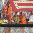 BANGKOK,THAILAND-NO VEMBER,2:The Royal Barge Procession Exercises on the occasion for Royal Kathin ceremony which will take place at Wat Arun Ratchavararam,Novem ber 2,2012 in Bangkok,Thailand. — Stock Photo