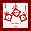 Vector de stock : Valentine`s card - I love you