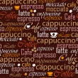 Coffee name seamless - Imagens vectoriais em stock