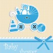 Baby shower - boy — Stock Vector #12706893
