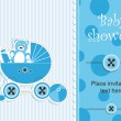 Baby shower - boy — Stock Vector #12706921