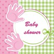 Baby shower - girl — Stock Vector #12706935