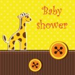 Shower card with giraffe — Stock Vector #12706937