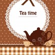 Tea time template — Stock Vector