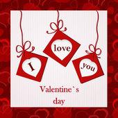 Valentine`s card - I love you — Stockvektor