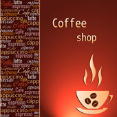 Template of a coffee shop — Stock Vector