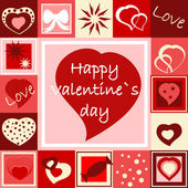 Seamless Valentine���s wallpaper — Stock Vector