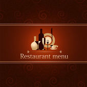 Luxury template for a restaurant menu — Stock Vector