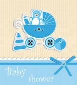 Baby shower - boy — Stock Vector