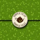 Tea time template — Stock Vector