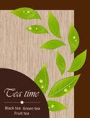 Template of a tea menu — Stock Vector