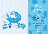 Baby shower - boy — Stock Vector