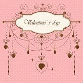Vintage valentine`s card — Stock Vector