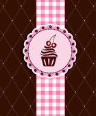 Postcard with cupcake — Stock Vector