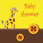 Shower card with giraffe — Stock Vector