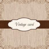Wooden vintage postcard — Stock Vector
