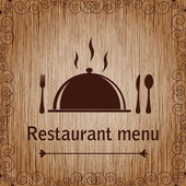 Template of a Restaurant Menu — Stock Vector