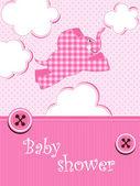 Baby dusch - flicka — Stockvektor