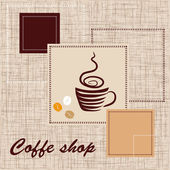 Template of coffee shop — Stock Vector