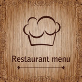 Template of a restaurant menu — Stock Vector