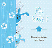Baby shower - twins — Stock Vector