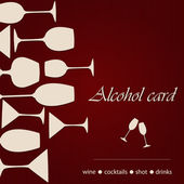 Template of a alcohol card — Stock Vector